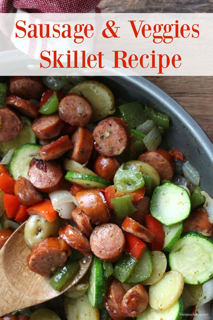 This quick and healthy sausage skillet meal idea is packed with natural protein and lots of veggies! You'll love how fast and flavorful this…