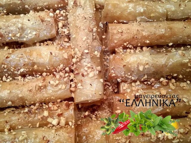 Συνταγή για παραδοσιακά μασουράκια με καβουρδισμένο αμυγδάλο! καβουρδισμένο αμύγδαλο, φρέσκο βούτυρο, φύλο βυρητού, κανέλα, σιρόπι