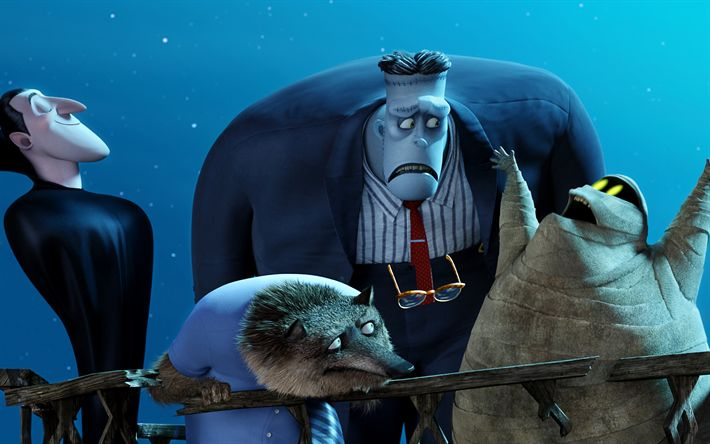 Download wallpapers Hotel Transylvania 3, characters, 4k, 2018 movie, 3D-animation