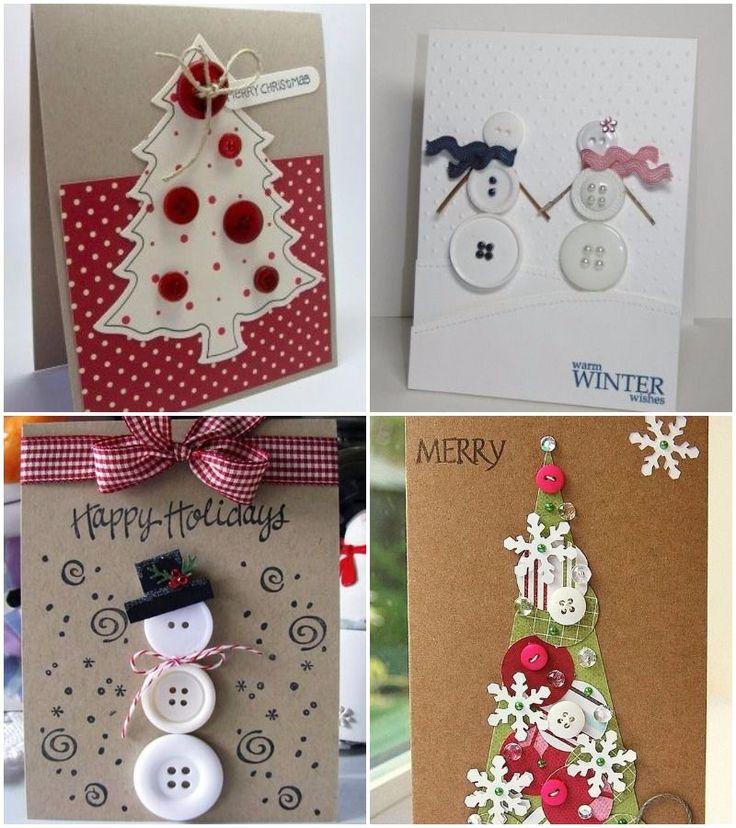 M s de 25 ideas incre bles sobre postales navidad - Como hacer tarjetas de navidad faciles ...