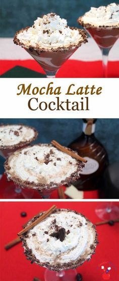 Mocha Latte Cocktail | 2 Cookin Mamas This decadent Mocha Latte Cocktail, with coffee, tequila, white chocolate liqueur & cream creates the perfect cocktail for cold weather. #recipe