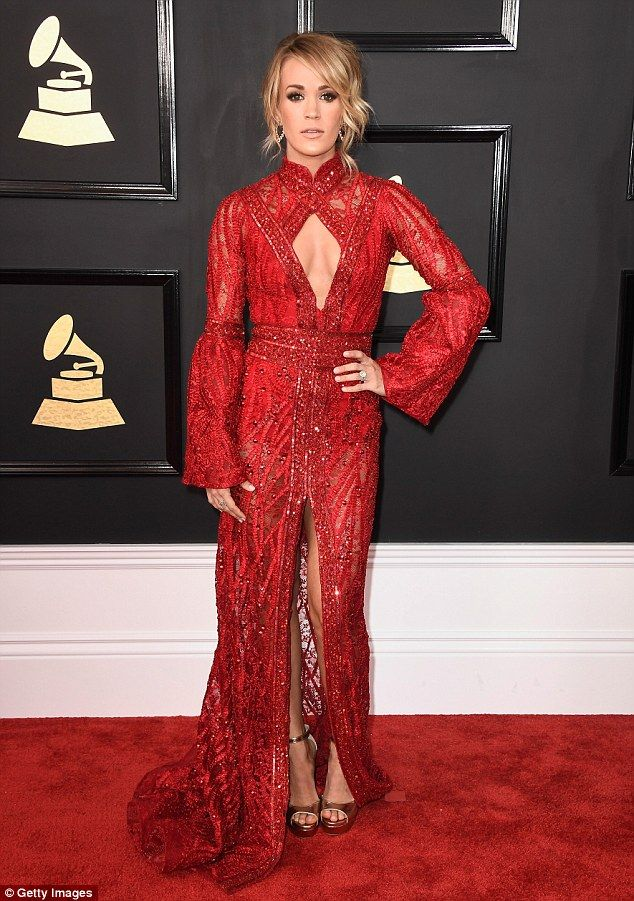 Rule the red carpet in scarlet Elie Madi like Carrie #DailyMail Click 'Visit' to buy now