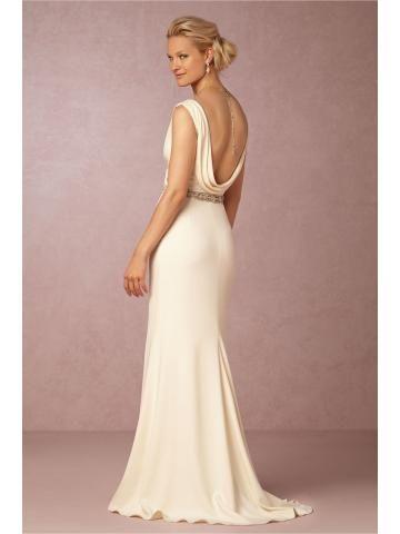 Meerjungfrau Modische Exklusive Brautkleider aus Chiffon mit Schleppe
