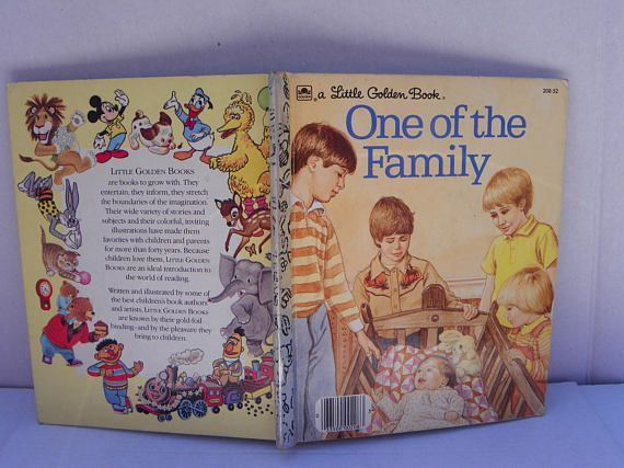 Little Golden Book 208-52  One of the Family  1983 Little