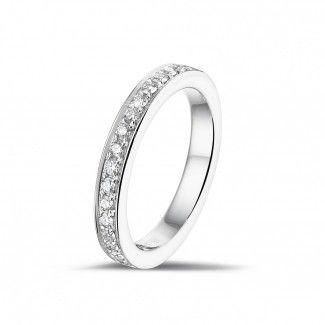 0.25 caraat diamanten alliance (half gezet) in wit goud
