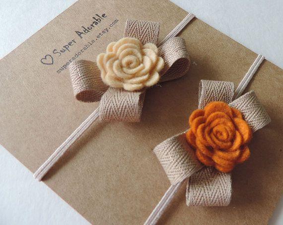 Felt Flower Headband in Fall Colors or choose от SuperAdorable