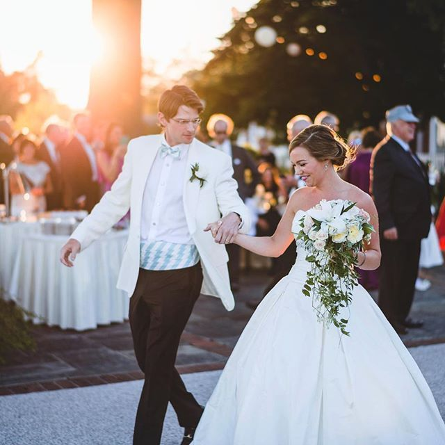 Grateful to be a part of another gorgeous #MadeintheSouth wedding!   Cary and Nate got married in August at the Country Club of Virginia and they chose our Misty Seafoam Stripe Cummerbund Sets for their big day!  #HighCotton #MadeintheSouth #Wedding #HighCottonWedding #southernwedding  Photo - @jasoncollinsphotography  Makeup - @sparker208  Bridesmaid dresses - @lulakate  Wedding dress - @pablomablancabridal