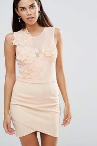 nude ginaikeio forema me leptomereies orange cream dress wedding