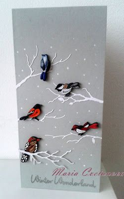 Quilling Seasons: I really like this card... very original!