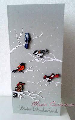 Quilling Seasons: Зимна тема - картичка и украшение за елхаWinter ca...