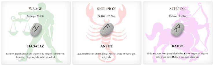 Runen Tageshoroskop 20.4.2017 #Sternzeichen #Runen #Horoskope #waage #skorpion #schütze