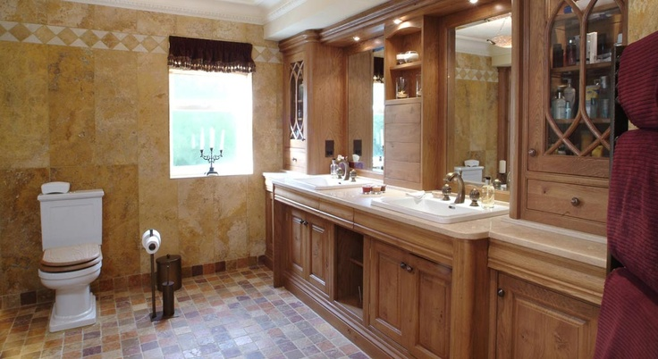 A tailored bathroom cabinet by Simpsons of Colne.