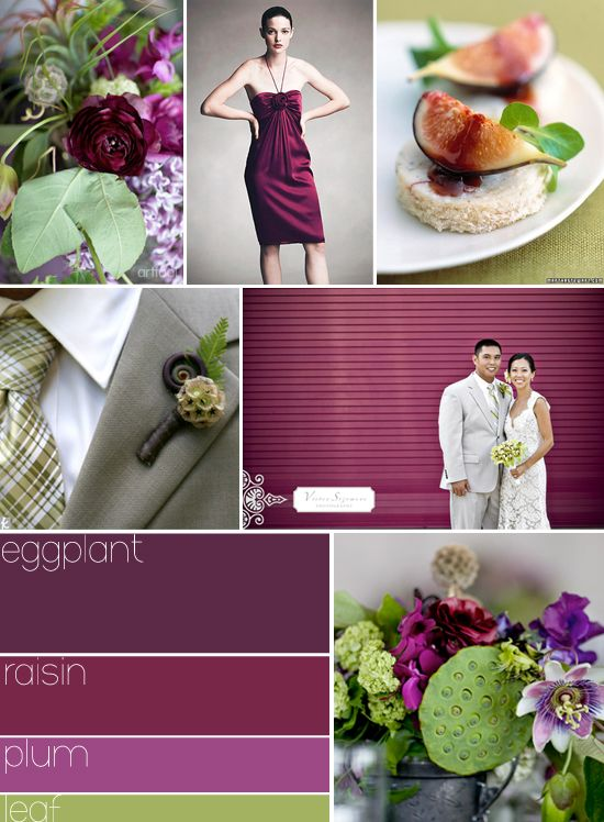 Possible Wedding Color Palette Eggplant Raisin Plum Leaf