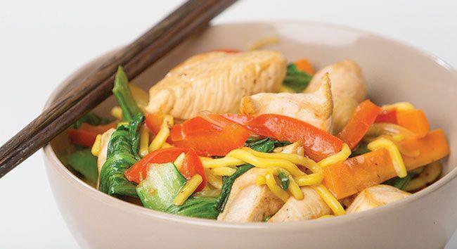 Chicken & Vegetable Stir Fry Noodles | Tony Ferguson Weightloss Program