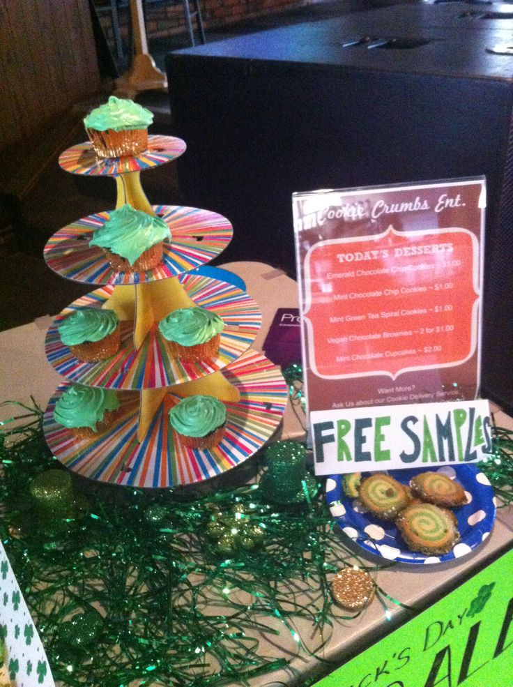 Chocolate Mint Cupcakes at our St. Patrick's Day Pop Up Shop!
