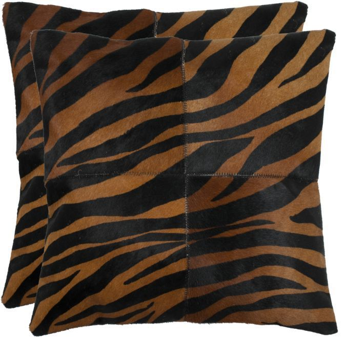 Throw Pillows For Couch Set of 2 (ANIMAL PRINT) Accent Exotic Chic Safari Style…