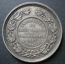 Belgian medallion - Exposition de races canines 1869 Brussels - 39.2mm