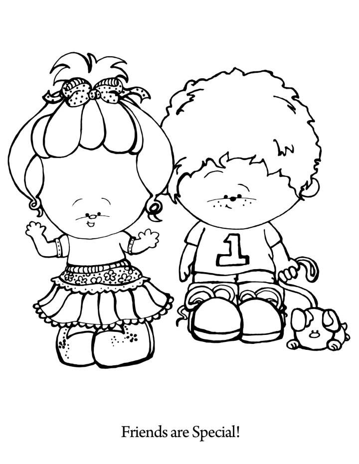 Friends are Special Coloring Page. This site has very cute
