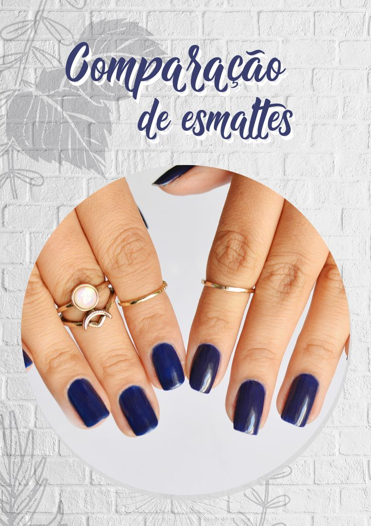 Confira essa comparação entre o esmalte Azul Biônico da Colorama e esmalte Azul Estrelado da Risqué. Dois esmaltes lindos para usar à noite em uma festa ou casamento e combinando com anéis perfeitos.