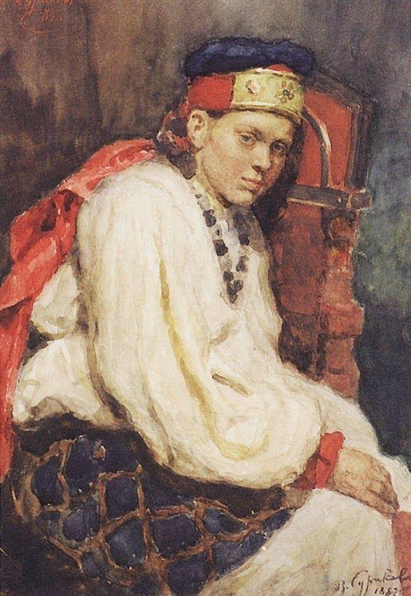 В. Суриков «Натурщица в старинном русском костюме» 1882