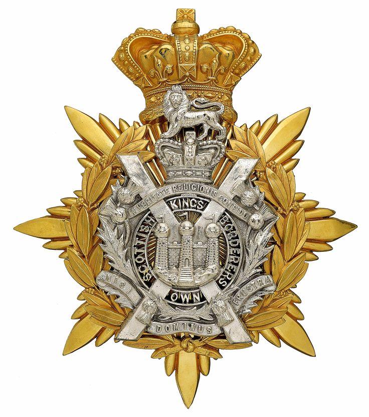 British; King's Own Scottish Borderers, Officer's helmet plate c.1884-1901