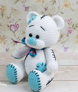 Crochet Teddy Bear Pattern, Giraffe Crochet, Crochet Baby Toys, Crochet Amigurumi Free Patterns, Granny Square Crochet Pattern, Crochet Animal Patterns, Crochet Bunny, Stuffed Animal Patterns, Crochet Crafts