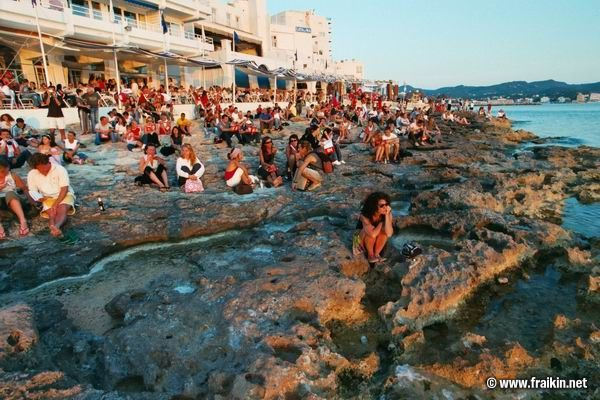 Sunset, Cafe del Mar, Ibiza one of my favourite. Worth the trip & the experience