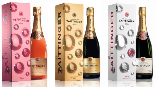The 'Bubbly' giftpacks of Taittinger Champagne