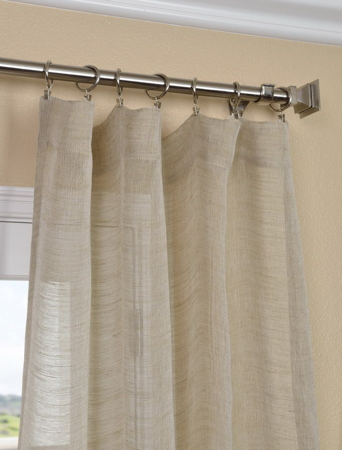 1000 images about window treatments on pinterest rod for Linen sheer window panels