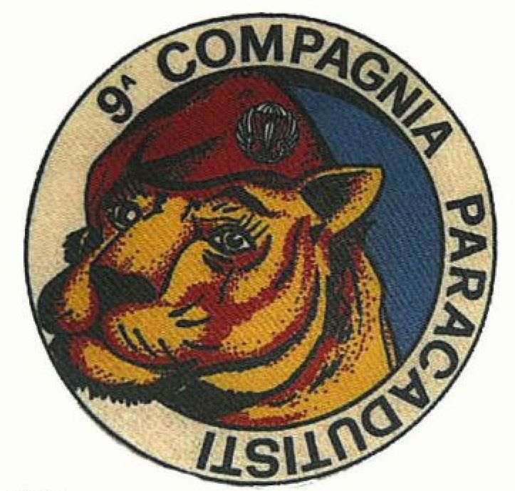 Patch 9 Compagnia Paracadutisti Stampata anni 70
