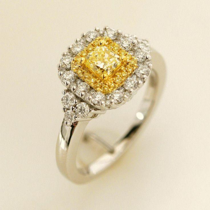 Gregg Ruth yellow diamond ring