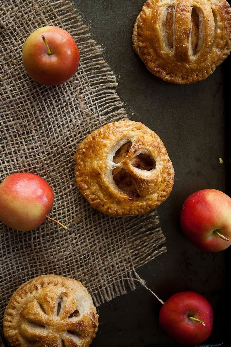 Spiced Crab Apple Mini Pies. I'll use vegan butter instead of real to veganize this!