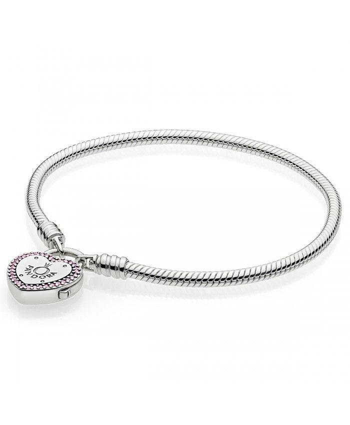 Pas Cher Pandora Bracelet Moments en Argent, Promesse d'Amour ...