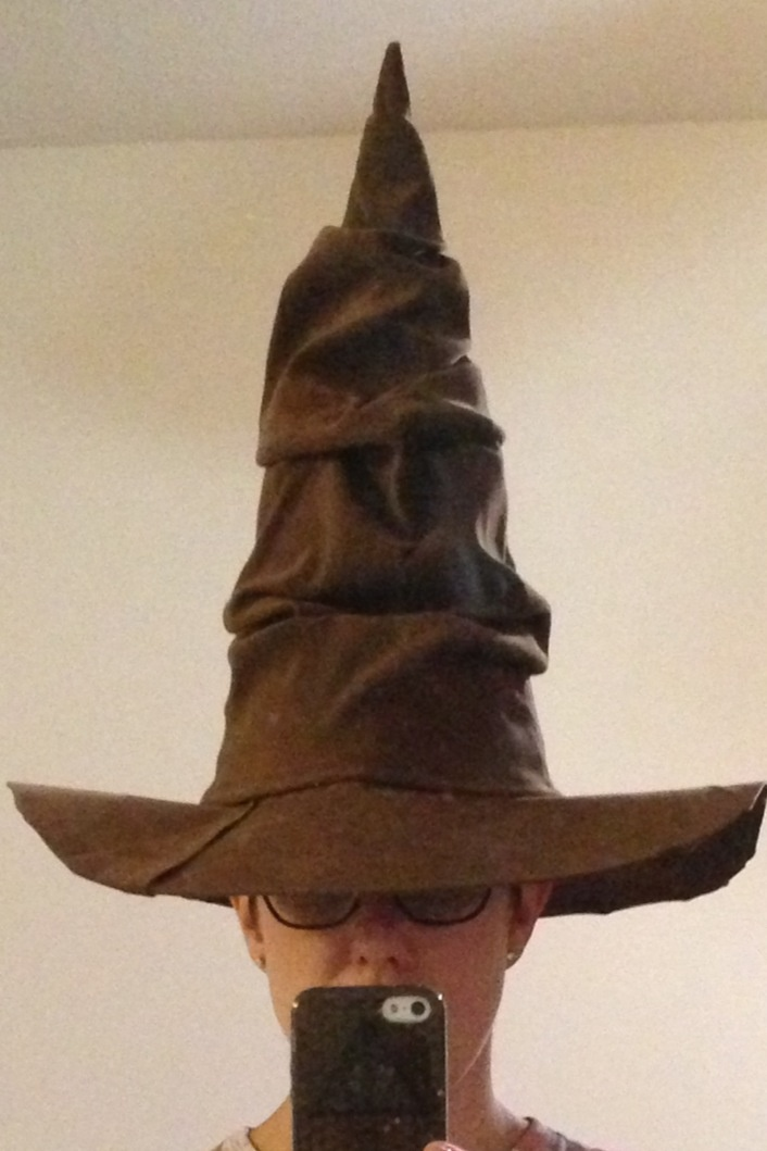 DIY sorting hat from Harry Potter. I made the hat out of a ...