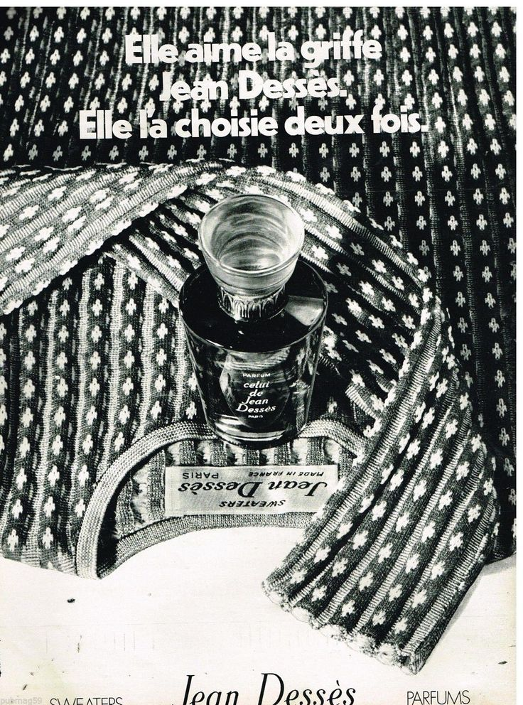 Jean Desses Sweaters Parfums 1971