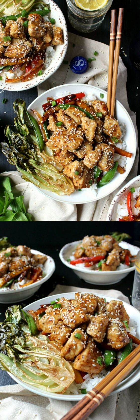 Ready in just 30 minutes and 100% gluten-free, this Honey Hoisin Chicken Stir Fry is not to be missed! Fast, healthy, and delicious for the whole family. | easy weeknight meal, sesame chicken, quick dinner idea