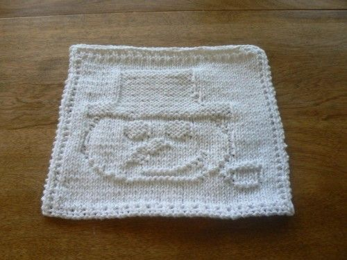 Free Knitted Dishcloth Patterns Snowman : Tuck this snowman in the Christmas stocking or a gift basket! Hand Knit White...