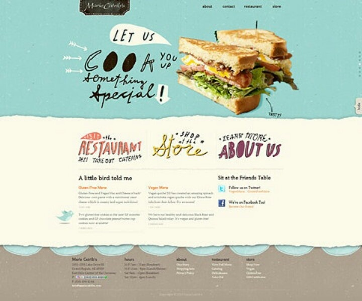 Fast food joint web design