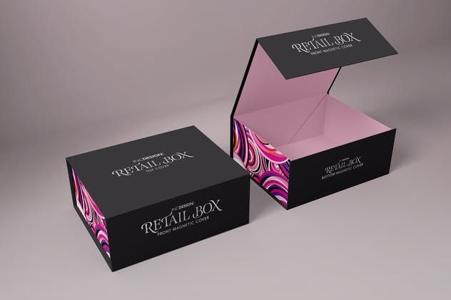 Retail Boxes Vol 4 Magnetic Box Packaging Mockup By Ina717 On