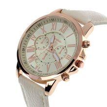 11 Colores 2016 Señoras de La Manera Mujeres Del Reloj de Números Romanos Ginebra Relojes de Imitación de Cuero de Las Mujeres de Cuarzo Analógico Casual Reloj de Pulsera(China (Mainland))
