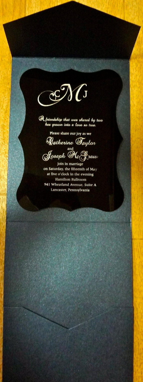 how to make invitation letter for vispurpose%0A Use this envelope called   vertico   Black Acrylic Invitation with Silver  type by pocketations on