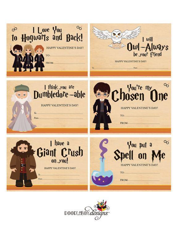 Magic Kids Valentines – Wizard Kids Valentine Cards – Cute Wizard Magic Kids Valentines – Immediate Digital Download