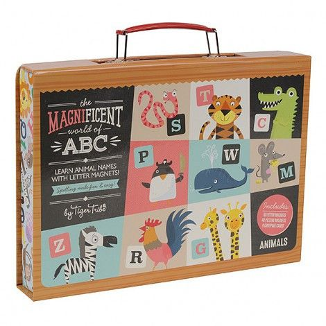 Magnificent World of ABC It's as easy as ABC! A fun, interactive way for early learners to discover the alphabet, recognise words and form connections between letters and sounds.  Each case includes:  80 letter magnets (upper + lowercase) 48 picture magnets 8 grouping cards Available in two fantastic designs.  Suitable for ages 4+