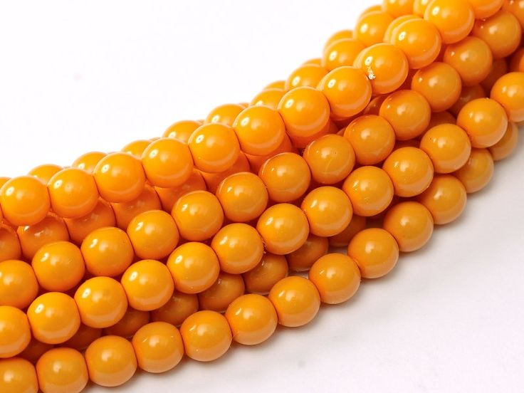 20 pcs  2mm round beads. 3mm round beads. 4mm round bead. Glass Pearl Pumpkin, Peach Coral, Yellow Squash, Dark Coral Czech round Glass Bead by Vladbeads on Etsy