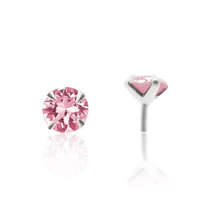 Piercing à cliper avec brillant rose. Le site C-Bo fait de votre peau un bijou avec ses bijoux pour le nez, le nombril, le tragus ou l'arcade.