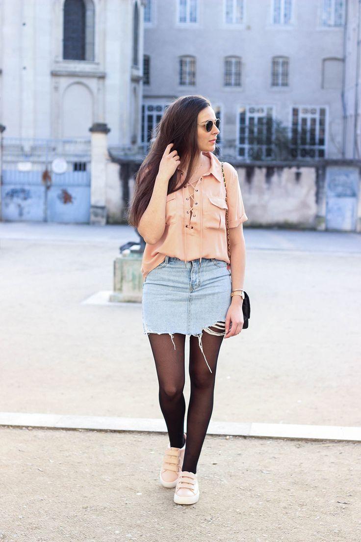 Street style legwear looks www.lestendancesbymarina.com - Fashionmylegs : The tights and hosiery blog