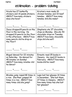 estimation practice: Estimation Worksheet, Math, 2Nd 3Rd Grade, Ideas ...