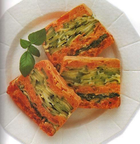 cocina vegetariana terrina de pimientos