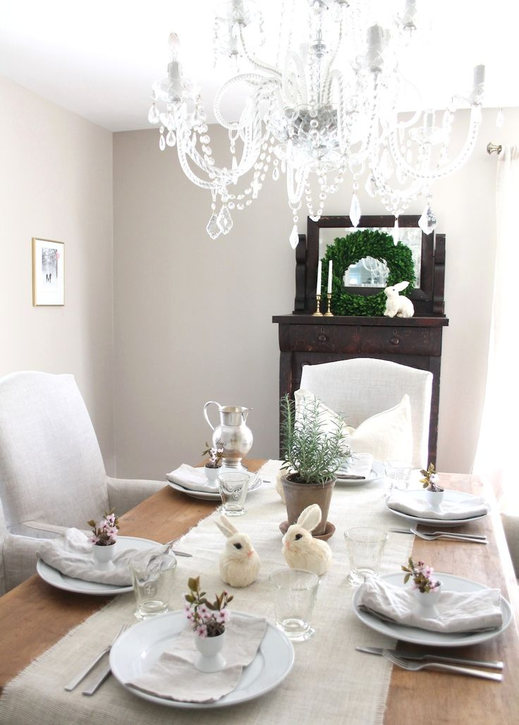 Elegant A Simple Easter Table Setting