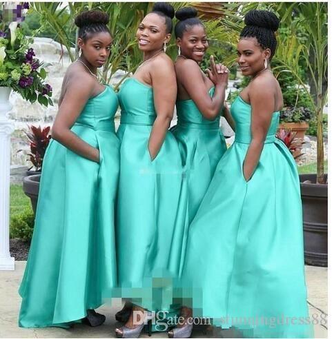 Elegant Turq African Cheap bridesmaid Dress Plus size ...
